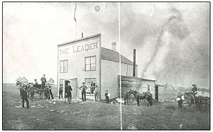 Leader-Post - The first Leader Building, Regina, Assiniboia, 1884