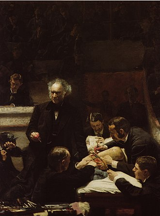 Conservation-restoration of Thomas Eakins' The Gross Clinic - The Gross Clinic prior to the 2010 treatment.