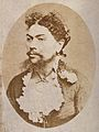 The head and shoulders of a woman with the facial hair of a Wellcome V0030010.jpg