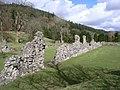 The ruined walls of Abaty Cwm Hir - geograph.org.uk - 1581878.jpg