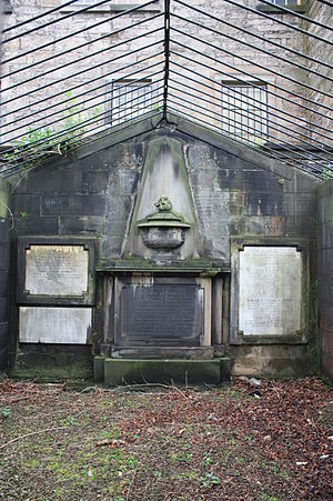Andrew Dalzell - The dramatic burial vault of Andrew Dalzel, Greyfriars Kirkyard, Edinburgh