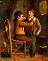 The young dentist. Oil painting by William Hemsley. Wellcome V0017180.jpg