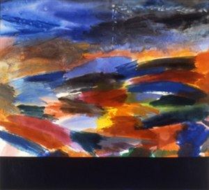 Ronnie Landfield - The Deluge, 1999, a/c, 108x120 inches, (exhibited: Salander/O'Reilly Galleries NYC, 2000).