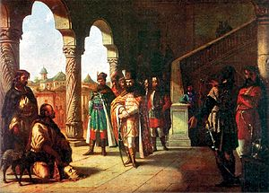 Battle of Șelimbăr - Image: Theodor Aman Mihai Viteazul si capul lui Bathory