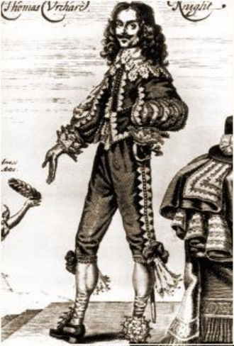 Thomas Urquhart - Urquhart on a 1641 engraving by George Glover