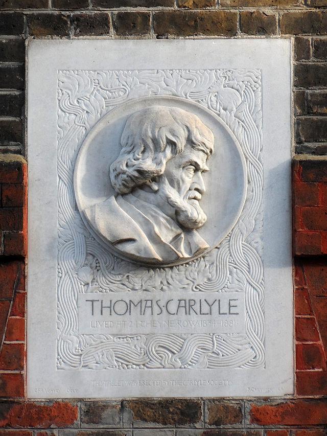 Thomas Carlyle white plaque - Thomas Carlyle