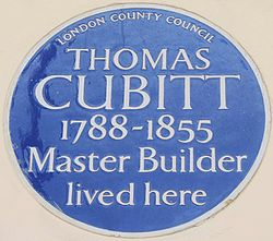 Photo of Thomas Cubitt blue plaque