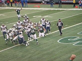2008 New York Jets season - Thomas Jones scores against the St. Louis Rams, November 9, 2008