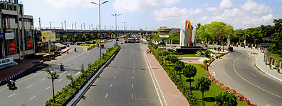 Tidel Park junction panorama.jpg