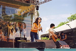 Tiffany performing at Gulfstream Park in 2003.