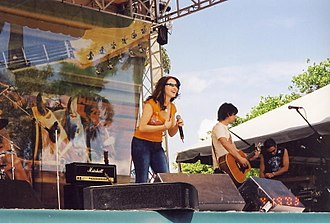 Tiffany Darwish - Tiffany performs in Gulfstream Park in Florida in 2003