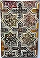 Tile field, building ceramics. from the mausoleum of Imam Yahya in Veramin, near Tehran. 661 AH (1262-1263 CE). Islamic Art Museum (Museum für Islamische Kunst), Berlin.jpg