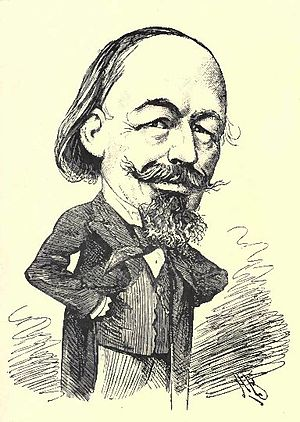 William Tinsley (publisher) - Caricature of Tinsley by A. Bryan