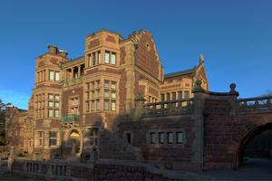 Tjolöholm Castle - Western facade, facing the sea.
