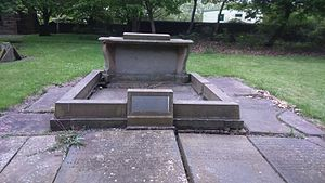 Attercliffe Chapel - Tomb of Benjamin Huntsman, in the graveyard of the chapel