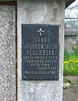 Tomb of Kędzierski family at Central Cemetery in Sanok (Matejki part) 4.jpg