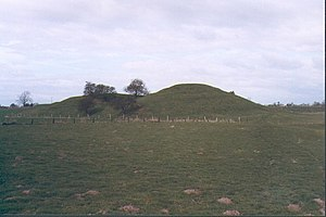 William de Percy - Remains of the motte of Topcliffe Castle, North Yorkshire, seat of William I de Percy