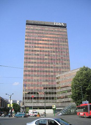 The headquarters of Banco Bilbao Vizcaya Argen...