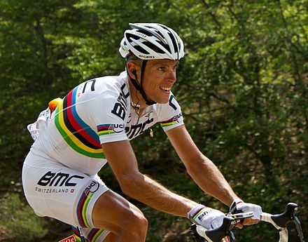 20476fca3 Gilbert wearing the Rainbow Jersey at the 2013 Tour de France