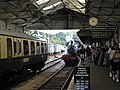 Train Arrival at Kingswear Station - geograph.org.uk - 292502.jpg