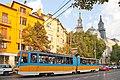 Tram in Sofia near Macedonia place 2012 PD 080.jpg