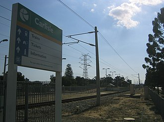 Carlisle railway station, Perth - Image: Transperth Carlisle Train Station