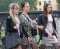 Trio of Young Women on Kirov Bridge - Vitebsk - Belarus (27633509431).jpg