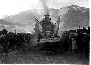 La Trochita - Inaugural trip to Esquel, on May 25, 1940