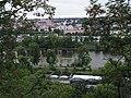Troja a Císařský ostrov, Vltava, ostrůvek u zoo, ze Zakázanky.jpg