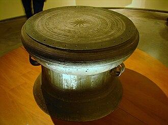 Vietnam - A Đông Sơn bronze drum, circa 800 BC.