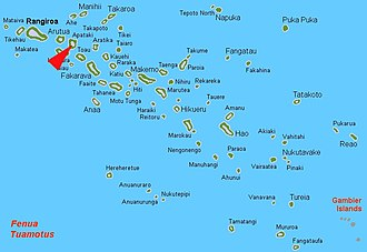 Apataki - Location of Apataki Atoll