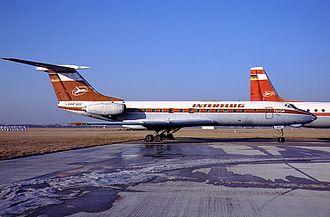 Interflug Flight 1107 - An Interflug Tu-134 similar to the aircraft involved in the accident