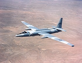"Un U-2C appartenente all'USAF, con livrea ""Sabre"", in volo; 1975."