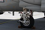 U.S.NAVY E-2D Advanced Hawkeye(168991) of VAW-125 right main landing gear right front view at MCAS Iwakuni May 5, 2018.jpg
