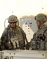 U.S. Army Brig. Gen. Robin Swan, left, deputy commanding general, 4th Infantry Division, Multinational Division-Baghdad, and Lt. Col. Christopher Beckert, the deputy commanding officer, 2nd Heavy Brigade Combat 081211-A-JH725-004.jpg