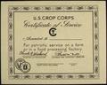 U.S. CROP CORPS - CERTIFICATE OF SERVICE - NARA - 515908.tif