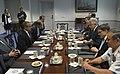 U.S. Secretary of Defense Chuck Hagel, center right, meets with Prince Salman bin Hamad bin Isa Al Khalifa, center left, the crown prince and first deputy prime minister of Bahrain, at the Pentagon in Arlington 130607-D-NI589-312.jpg