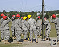 U.S. Soldiers train to assemble and erect an antenna at Fort Gordon, Ga., April 17, 2009 090417-A-NF756-011.jpg