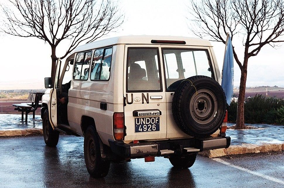 UNDOF Golan Heights vehicle