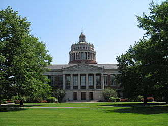 University of Rochester - The Rush Rhees Library, as seen from the Eastman Quadrangle.