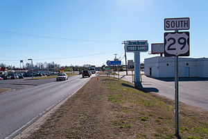 U.S. Route 29 in South Carolina - First sign of US 29, after the NC state line, near Blacksburg