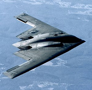Stealth aircraft - B-2 Spirit stealth bomber of the U.S Air Force