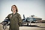 USAF Female F-15C Eagle Fighter Pilot Lt Col Carey Jones, Nellis AFB, Women's History Month (140321-F-NK166-267).jpg