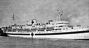 USAHS Blanche F. Sigman - USAHS Blanche F. Sigman in port, c. 1944–1946