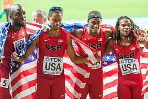 2013 World Championships in Athletics – Men's 4 × 400 metres relay - Gold medal winners