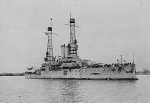 USS Alabama (BB-8) - Alabama in Philadelphia in 1919