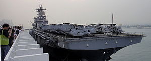 USS Boxer (LHD-4) - USS Boxer arriving at Hong Kong-01 2011
