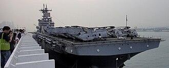 USS Boxer (LHD-4) - USS Boxer arriving at Hong Kong-01 2011