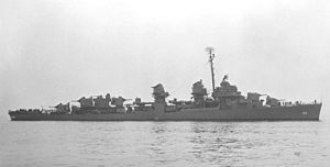 USS Burns (DD-588) at sea c1945