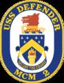 USS Defender MCM-2 Crest.png